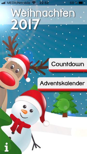 Weihnachten 2017 App für Apple
