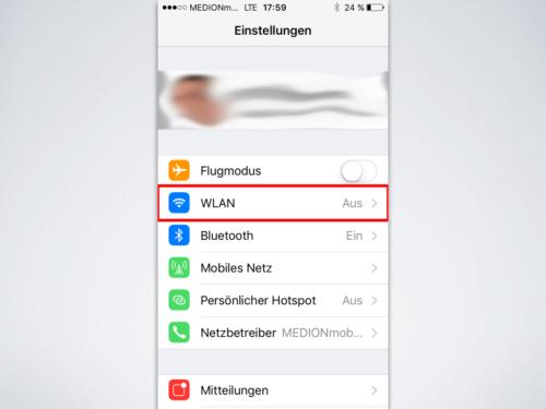 iOS Wlan-einstellen