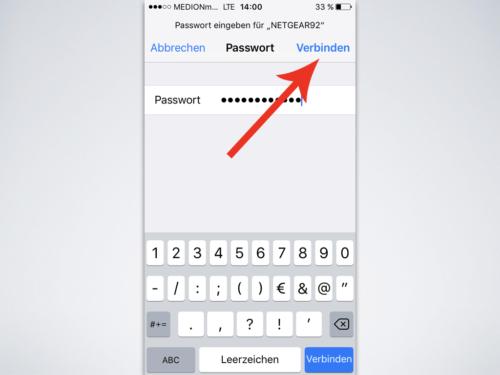 Wlan Passwort eingeben